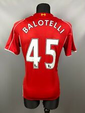 LIVERPOOL 2014/2015 BALOTELLI HOME FOOTBALL SOCCER JERSEY WARRIOR ADULT SIZE M