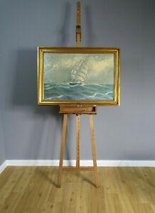 Ölgemälde Segelschiff signiert Fletcher