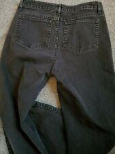 Women's L.L.Bean Favorite Fit Straight Black Wash Stretch Jeans Size 10 R