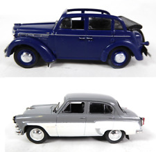 Lot of 2 miniature cars ussr moskvitch 400 + 407 1/43 ixo diecast car lr22