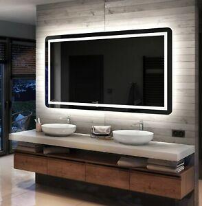 Moderne Miroir Salle De Bain Avec LED Illumination Éclairage Miroirs Muraux L63