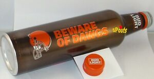 CLEVELAND BROWNS 2017 BUD LIGHT NFL KICKOFF ALUMINUM BOTTLE BEER CAN OH FOOTBALL