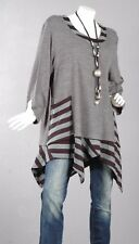 112 TREND Pullover Tunika Longpullover A-Linie Top Bluse Shirt Lagenlook 58 /3