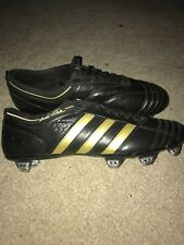 Men's Adidas Adipure II SG - Black/Metallic Gold - Rare Classic Football Boots