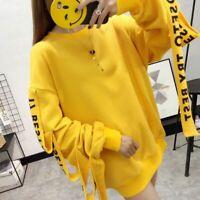 Women Pullover Hoodies Sweatshirts Autumn Korean Loose Full Length Sweatshirt