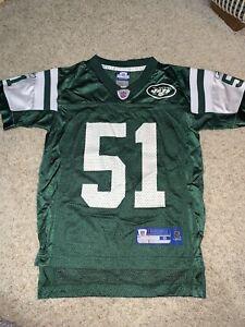 New York Jets Jersey #51 Jonathan Vilma Kids Size Small S (8)