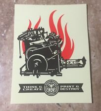 """OBEY Giant Shepard Fairey """"Print and Destroy"""" Limited Edition Sticker"""