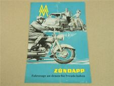 Prospekt Zündapp Fahrzeuge Trophy 175 250 Bella 154 203 Janus 750 50er Jahre