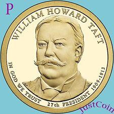 2013-P WILLIAM HOWARD TAFT GOLDEN PRESIDENT DOLLAR FROM UNCIRCULATED MINT ROLL