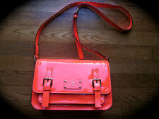 Kate Spade New York Scout Flicker FLO CORAL ORANGE PATENT LEATHER PURSE SHOULDER
