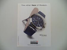 advertising Pubblicità 1997 SWATCH IRONY CHRONO SECRET AGENT