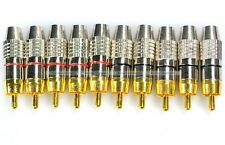10Pcs (5 Pairs) RCA Male Plug Solder Free Audio Video Adapter Connector S2 New