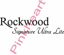 Rockwood Signature ultra lite rv decal Rv camper decals graphics sticker USA
