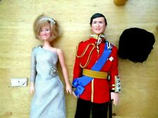 Prince of Wales Charles and Princes of Wales Dolls Set