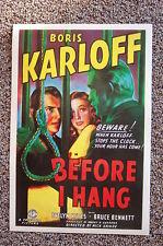 Before I Hang Lobby Card Movie Poster Boris Karloff