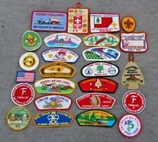 Vintage BSA Boy Scouts of America 25 PC PATCH LOT Embroidered Patches Strip Flap