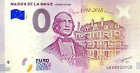BILLET 0  EURO MAISON DE LA MAGIE  BLOIS FRANCE  2018  NUMERO 100