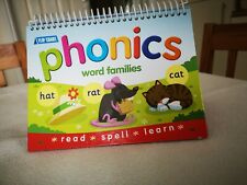 Phonics Word Families Flip Chart Book Read Spell Learn Kids Education 3+