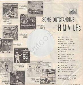"Vintage INNER SLEEVE or SLEEVES 12"" EMI HMV SOME OUTSTANDING H.M.V LPs bw_p x 1"