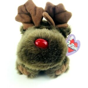 Puffkins Limited Edition Christmas Moose Reindeer Plush Stuffed Animal Toy