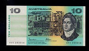 AUSTRALIA  10 DOLLARS ( 1985 ) UDS (203) PICK # 45e  AU.