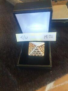 9ct Gold Pyramid Ring 18g size T/U