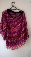 Fabulous ASHLEY STEWART One-Shouldered Print Top (UK 14, US 12): Worn Once