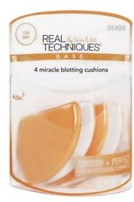 REAL TECHNIQUES By Sam & Nic Base 4 Miracle Blotting Cushions - New #01493