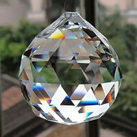 DIY 50MM FENG SHUI HANGING CRYSTAL BALL Sphere Prism Rainbow Suncatcher V9U5