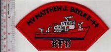 Fire Boat Massachusetts Boston Fire Department MV Matthew J Boyle Fireboat E-44