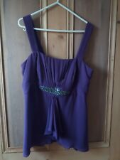Per Una purple top size 12 New without tags Bonedover the bust. Side zip.