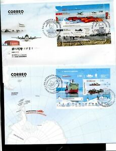 ARGENTINA 2019 ANTARCTICA ANTARCTIC SHIP ICEBREAKER IRIZAR+MARAMBIO ST AVION FDC