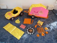 1971 Vintage Barbie Lets Go Camping Dune Buggy With Accessories Parts Repair