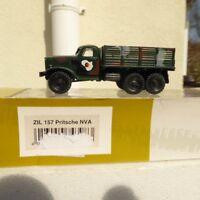 """Roco Herpa Minitanks 743983 ZIL 157 LKW Pritsche """"NVA"""" grüne Tarnfarbe H0,RK"""