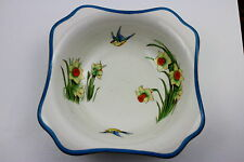 Art Deco Losol Ware Keeling & Co Burslem DAFFODIL Pattern Hand Painted Bowl