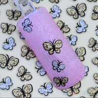 2sheets/70~100pcs Butterfly Nail Art Stickers Decals Nail Tips Decor Manicure EP