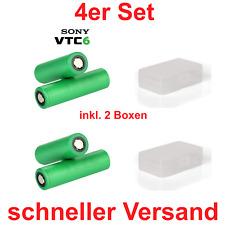 4x Sony Konion US18650VTC6, 3,7V, 3120mAh, 30A - TOP PREIS - für Kangertech Sub