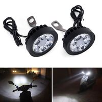Motorcycle Headlight Spot Fog Lights Front Head Lamp 6 LED 12V-85V 2x Offroad