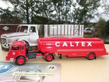 n° 79 SAVIEM TANCARVILLE Camion Semi Remorque Citerne CALTEX  1/43 Neuf en Boite