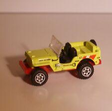 """Matchbox Willys Jeep """"Lifegaurd"""" 4X4 Vehicle Hard To Find Die Cast Item"""