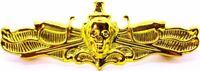 US Navy Surface Warfare Officer Skull Badge USN SWO Insignia Naval GOLD Pin
