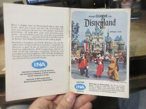 1970 Disneyland Anaheim California Amusement Park Guide Book Map Rides Worlds