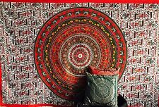 Queen Hippie Mandala Tapestry Indian Wall Hanging Bedspread Bohemian Gypsy Red