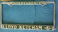 Lloyd Ketcham Oldsmobile Dealer License Plate Frame Independence Missouri Metal