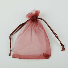 10pcs Drawstring Organza Bags Jewelry Pouches Wedding Party Gift Bag Wine
