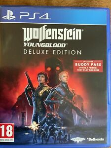 PlayStation PS4 Game : WOLFENSTEIN YOUNG BLOOD Deluxe Edition - New