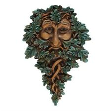 19x13cm Leafy Green Man Wall Plaque Garden or Home Indoor Outside TM 55438