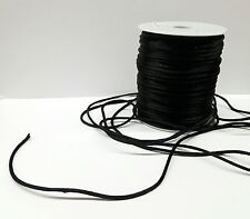 10 Yards 2 mm Satin Rattail Cord-string in BLACK- Cordon Cola de Rata-NEGRO