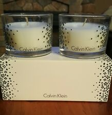 Set of 2 CALVIN KLEIN BIRCH Scented Candles Nest Fragrances Boxed NIB