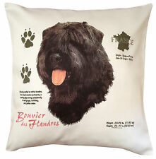Bouvier des Flandres History Breed of Dog Cotton Cushion Cover - Perfect Gift